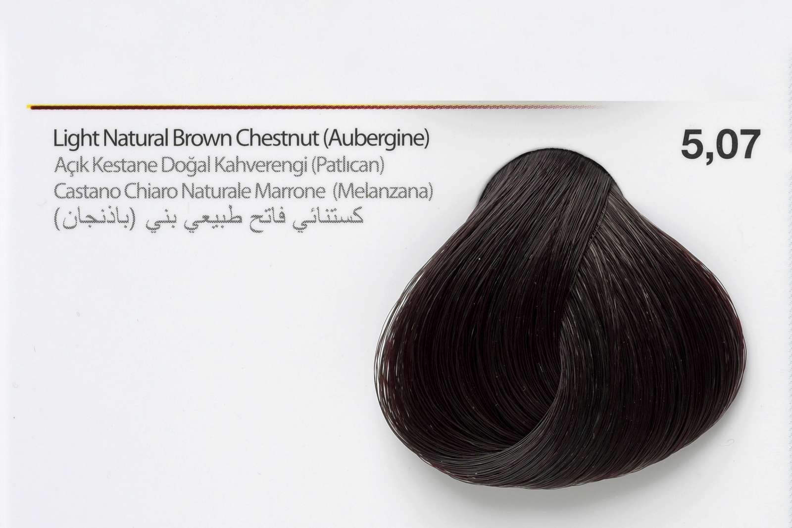 5,07 - Light Natural Brown Chestnut (Aubergine)