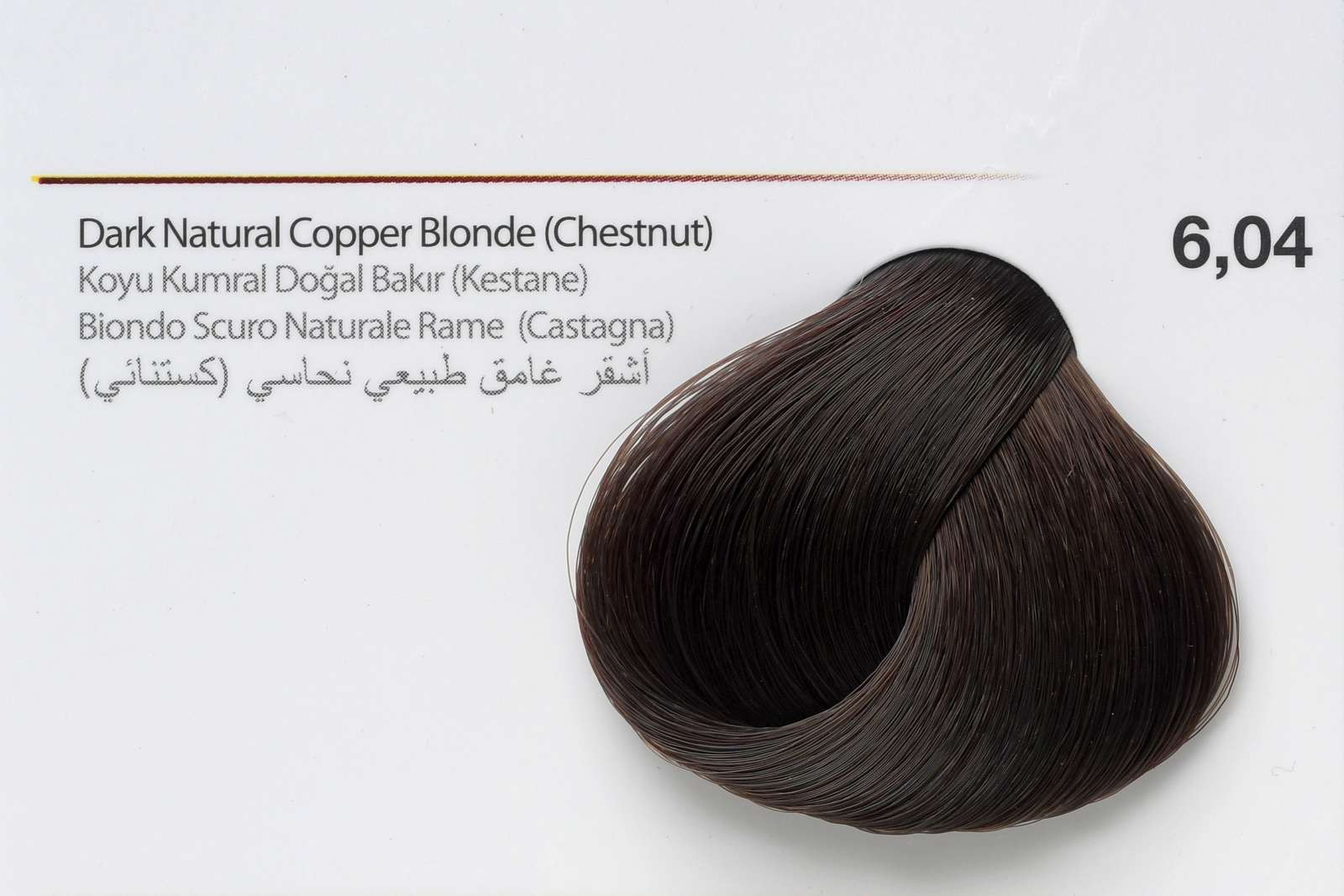 6,04 - Dark Natural Copper Blonde (Chestnut)
